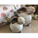 Sada keramických zajacov
