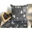 Vianočná krajinka sivá