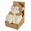 Deka HVIEZDA BÉŽOVÁ + hračka opička